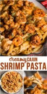 creamy cajun shrimp pasta easy dinner recipe