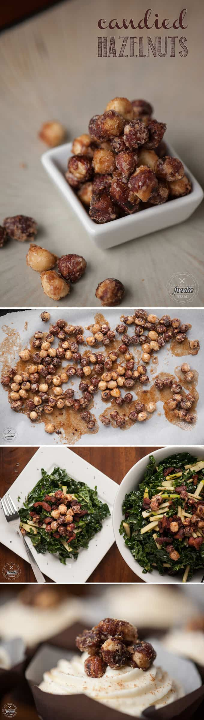 These roasted Candied Hazelnuts are perfectly sweet with a spicy kick. They are an excellent addition to salads or desserts.