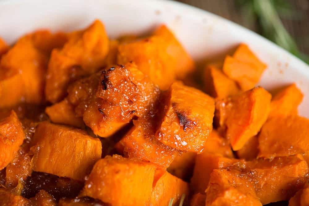 close up photo of homemade Candied Yams
