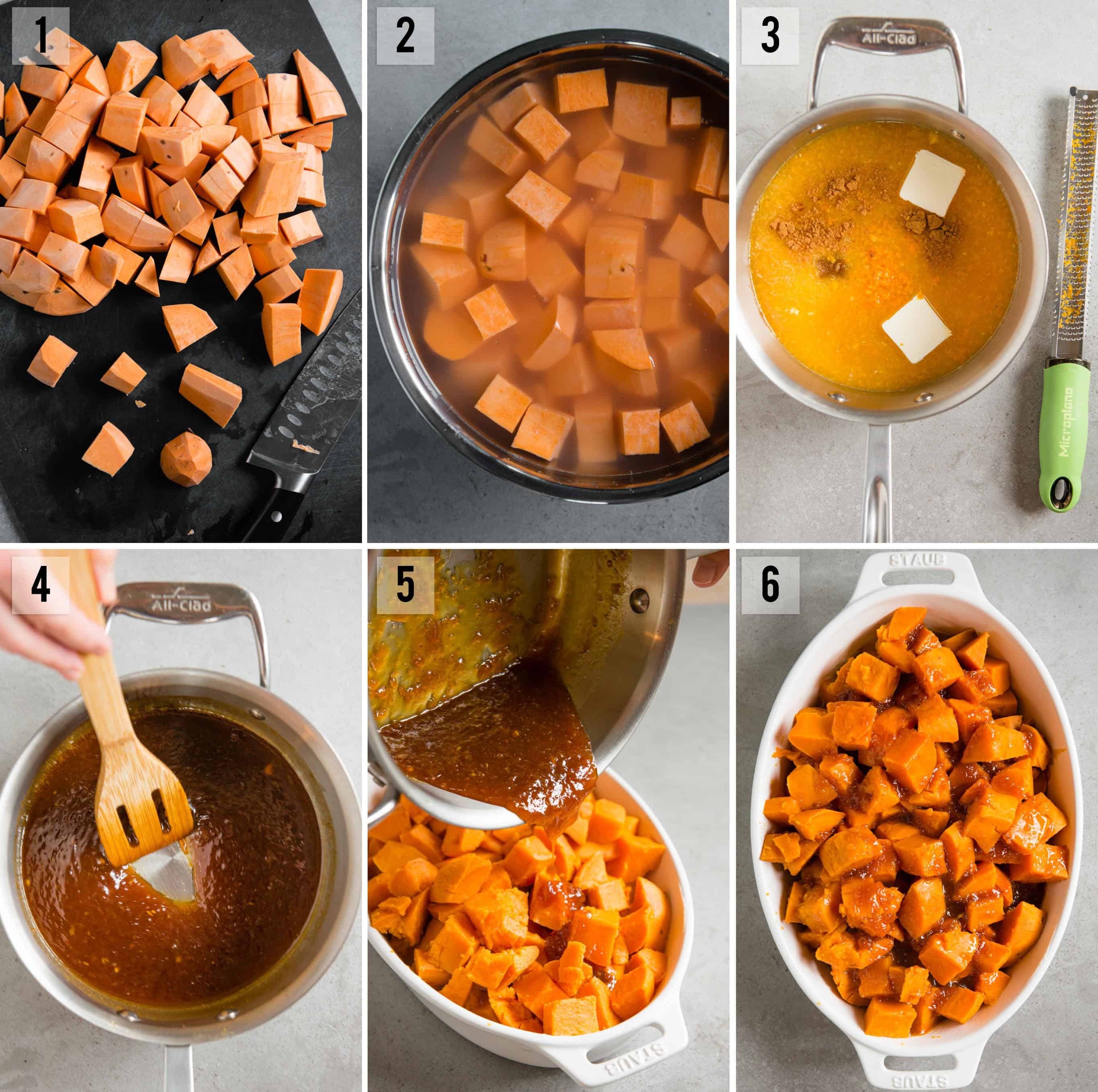 step by step photos on how to make Candied Yams