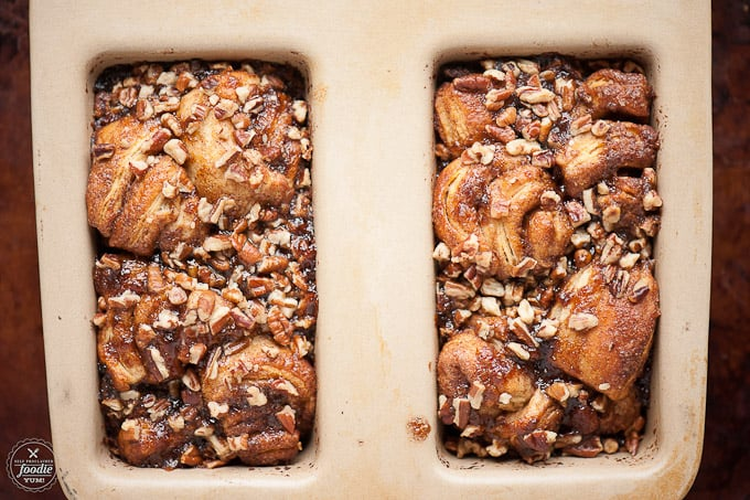 I can't imagine a better morning treat than this ooey, gooey, outrageously delicious, fun for all ages Caramel Pecan Bacon Monkey Bread.