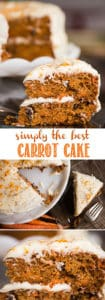 Simply the best carrot cake with cream cheese frosting