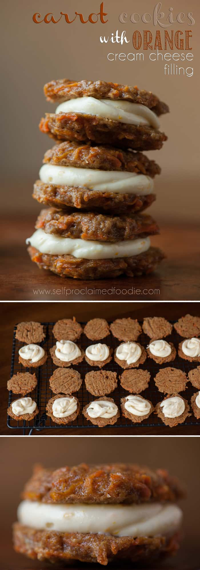 These rich and perfectly sweet Carrot Sandwich Cookies with Orange Cream Cheese Filling are super soft and beyond delicious. You will love them.