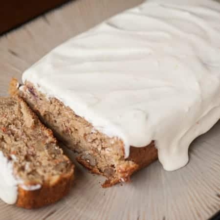Carrot Quick Bread with Orange Cream Cheese Glaze