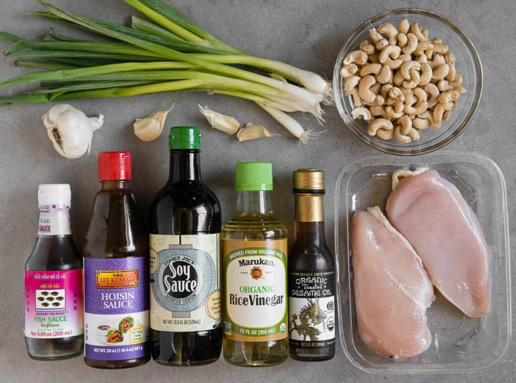 ingredients to make Cashew Chicken