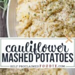 how to make Cauliflower Mashed Potatoes