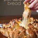 Words cannot explain how delicious this Cheesy Chipotle Pull Apart Bread is. It is the perfect tasty appetizer for any game day feast.