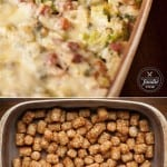 If you're craving some good old fashioned comfort food, this Cheesy Ham & Broccoli Tater Tot Casserole is sure to satisfy and makes for a tasty dinner.