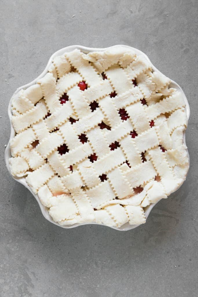 lattice weave uncooked pie