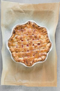 whole baked lattice weave fruit pie
