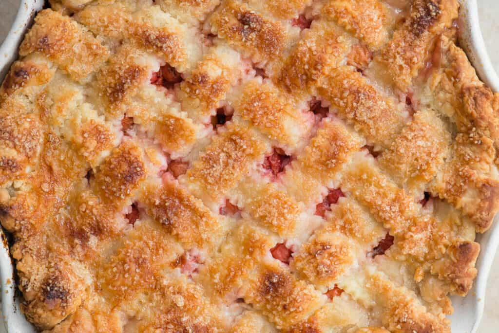 close up of baked Cherry Pie