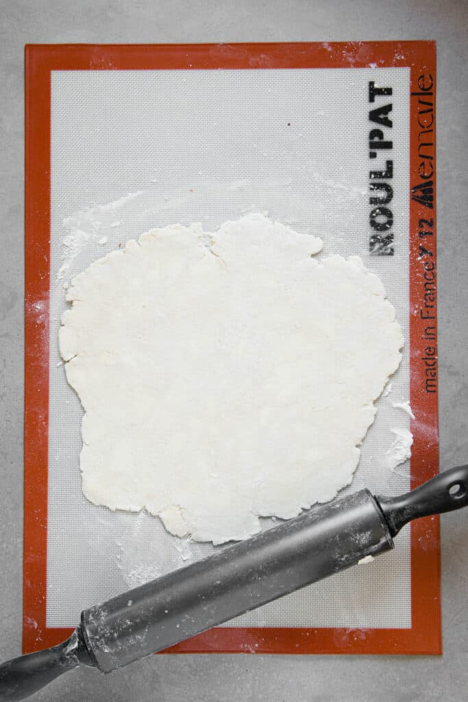 rolled out homemade pie crust