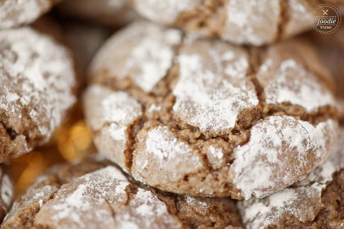 a close up of chewy brown sugar cookies