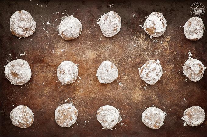 brown sugar cookies before baking