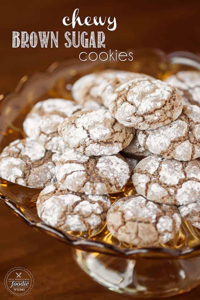 a platter of chewy brown sugar cookies