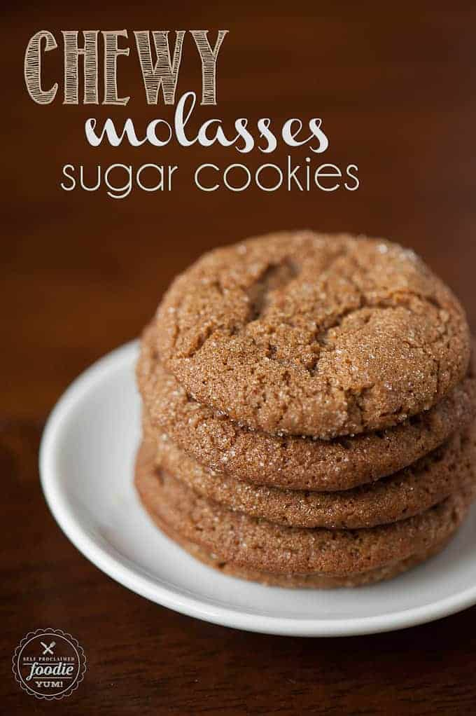 Chewy Molasses Sugar Cookies | Self Proclaimed Foodie
