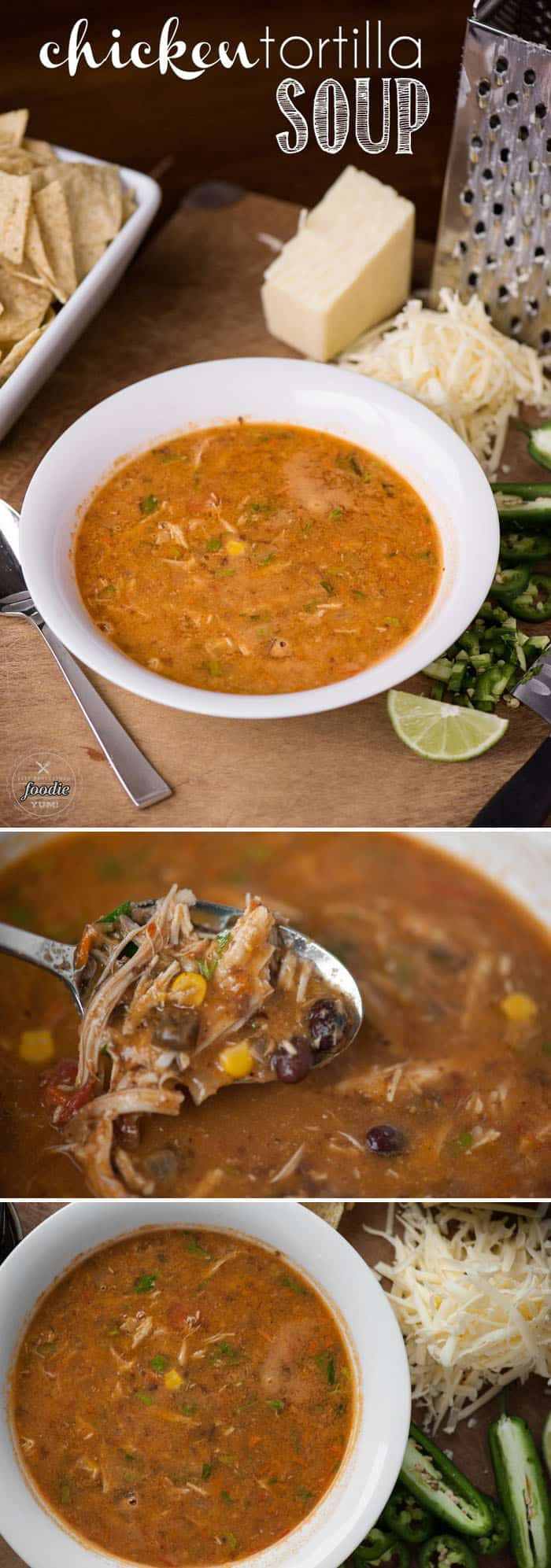 Chicken Tortilla Soup is one of most easy, healthy, & delicious one pot meals you'll serve for family dinner and tastes even better with homemade broth.
