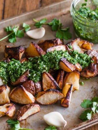 recipe for how to make Chimichurri pototoes