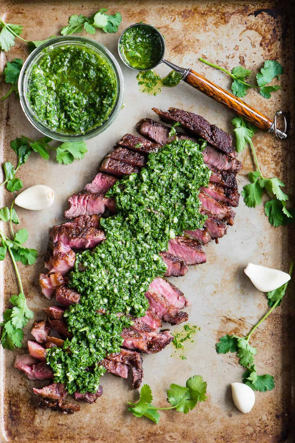 homemade Chimichurri Steak recipe