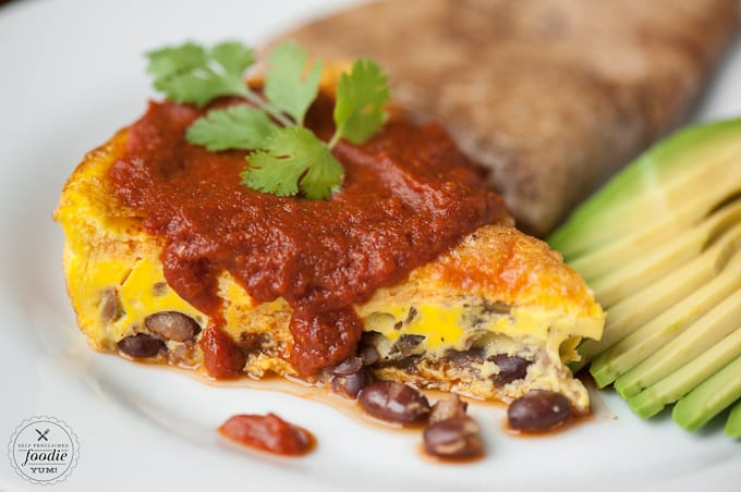 Enjoy the same spicy flavor in this Chipotle Rancheros Frittata as you would huevos rancheros, but its healthier, lower in carbs, & higher in protein.