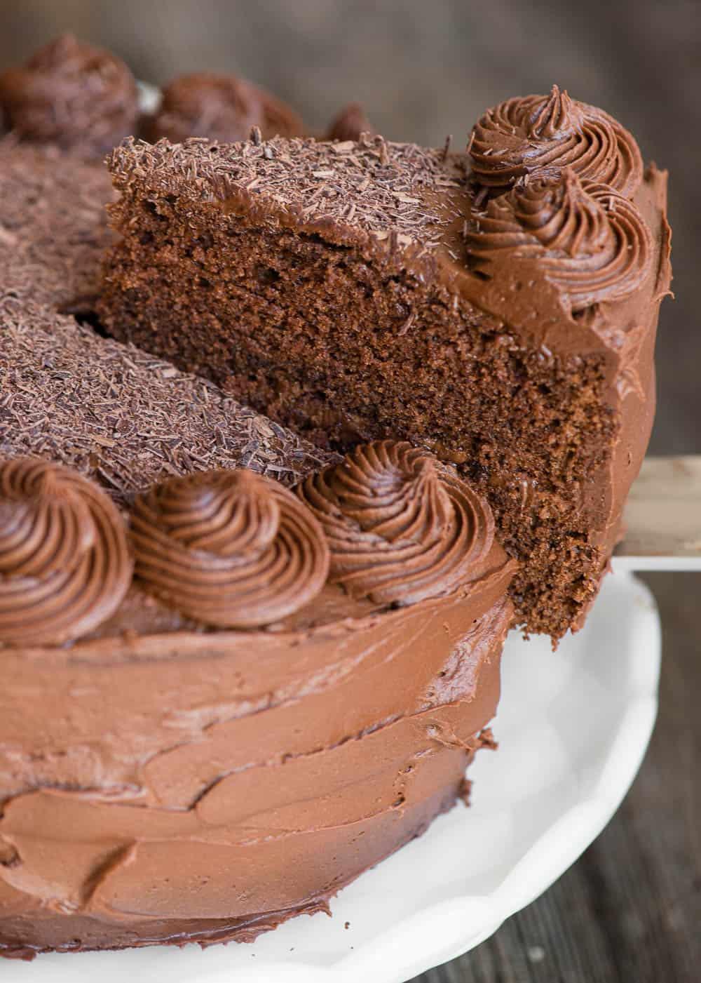 lifting a piece of cake