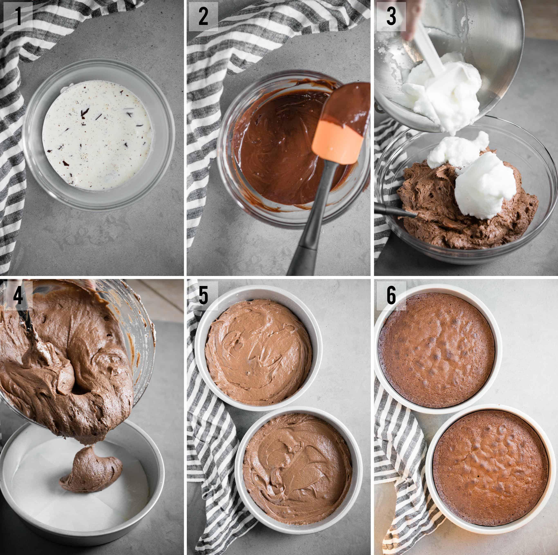 step by step photos of how to make homemade Chocolate Cake