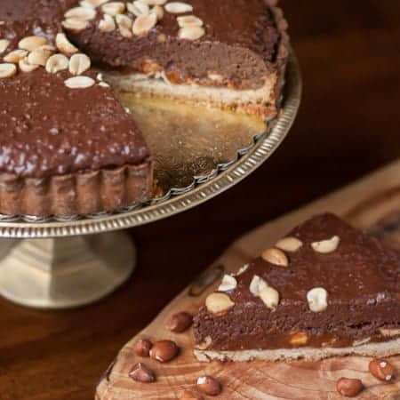 Chocolate Caramel Peanut Crunch Tart