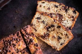 Chocolate Chip Banana Bread is a family favorite recipe and super moist banana bread that combines the flavors of chocolate and ripe banana.