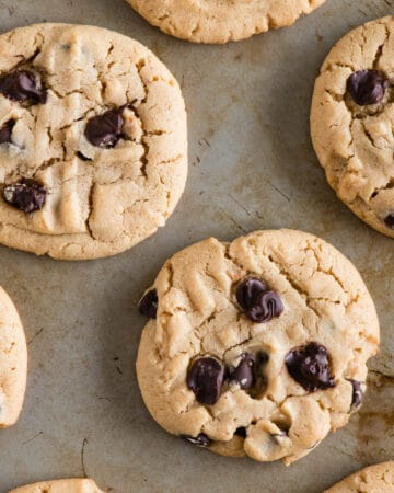 freshly baked Chocolate Chip Peanut Butter Cookies