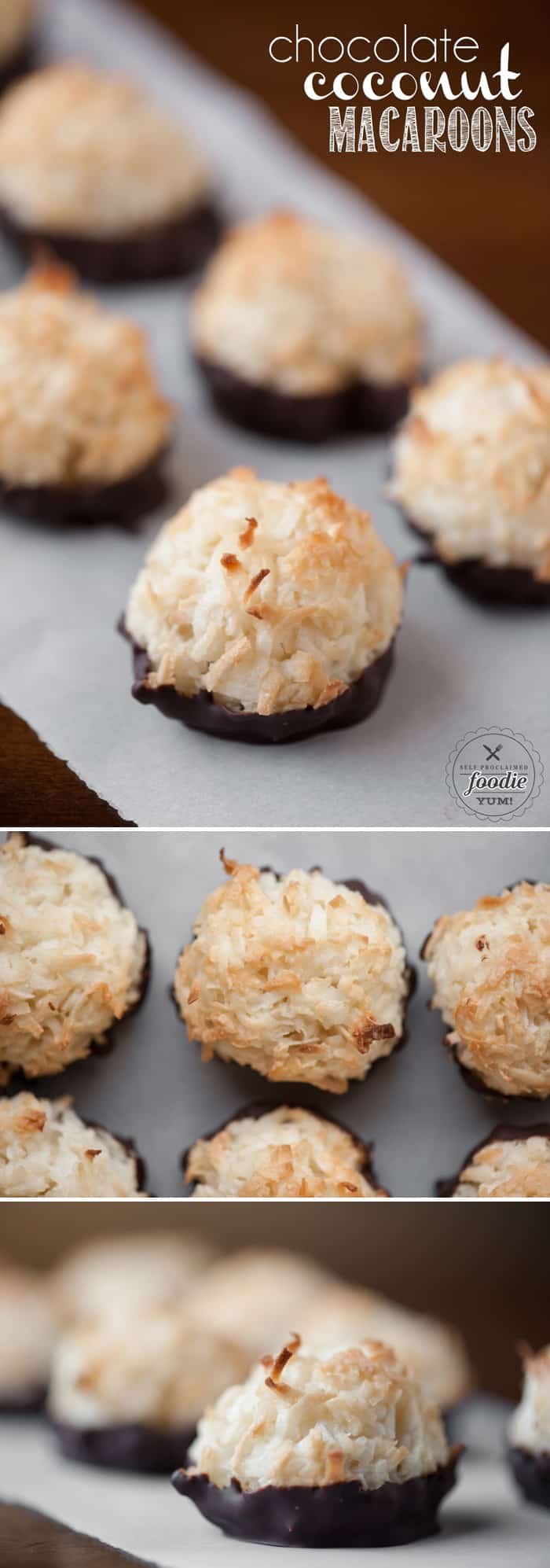 Chocolate Coconut Macaroons | Self Proclaimed Foodie