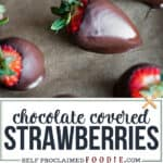 recipe for how to make easy chocolate covered strawberries