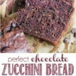 recipe for perfect chocolate zucchini bread
