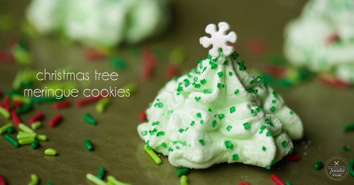 christmas tree meringue cookies self proclaimed foodie - Christmas Tree Meringues