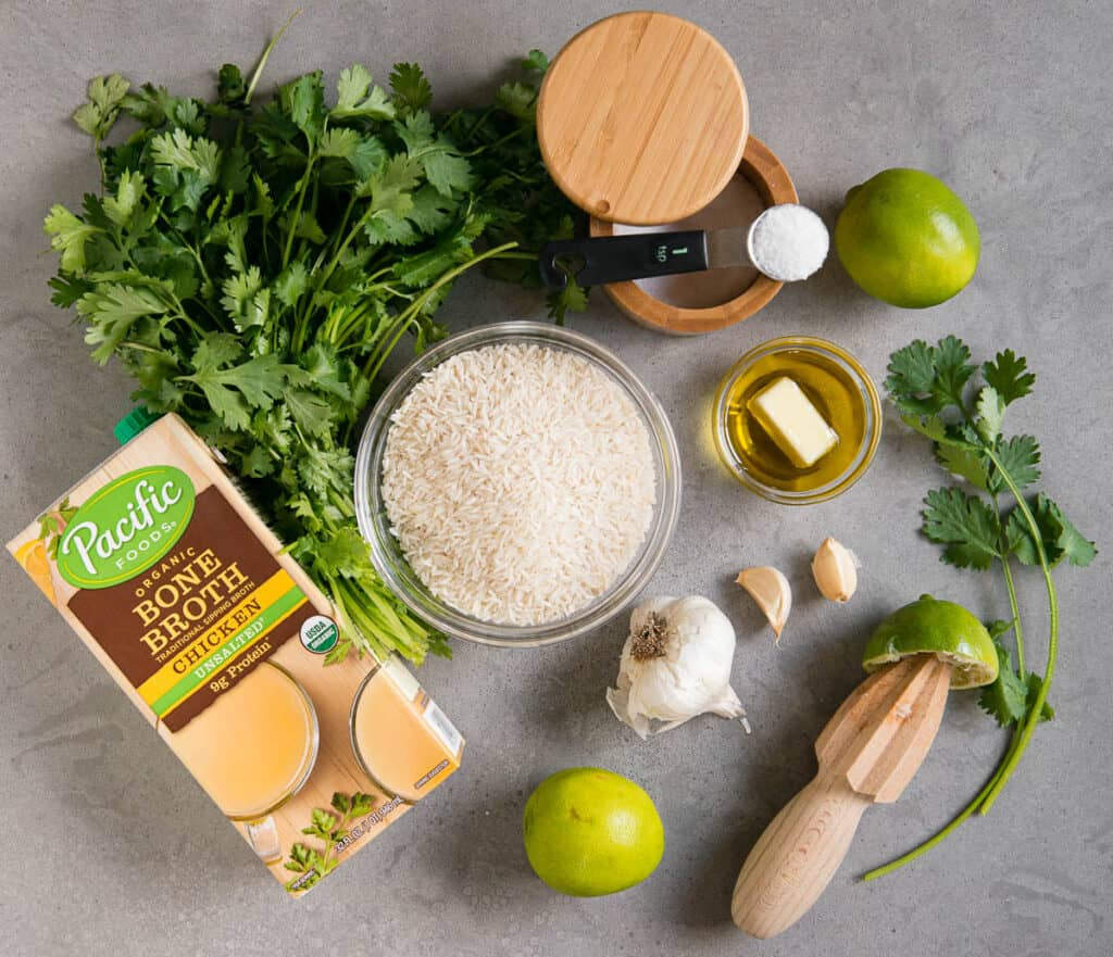 ingredients needed to make Cilantro Lime Rice