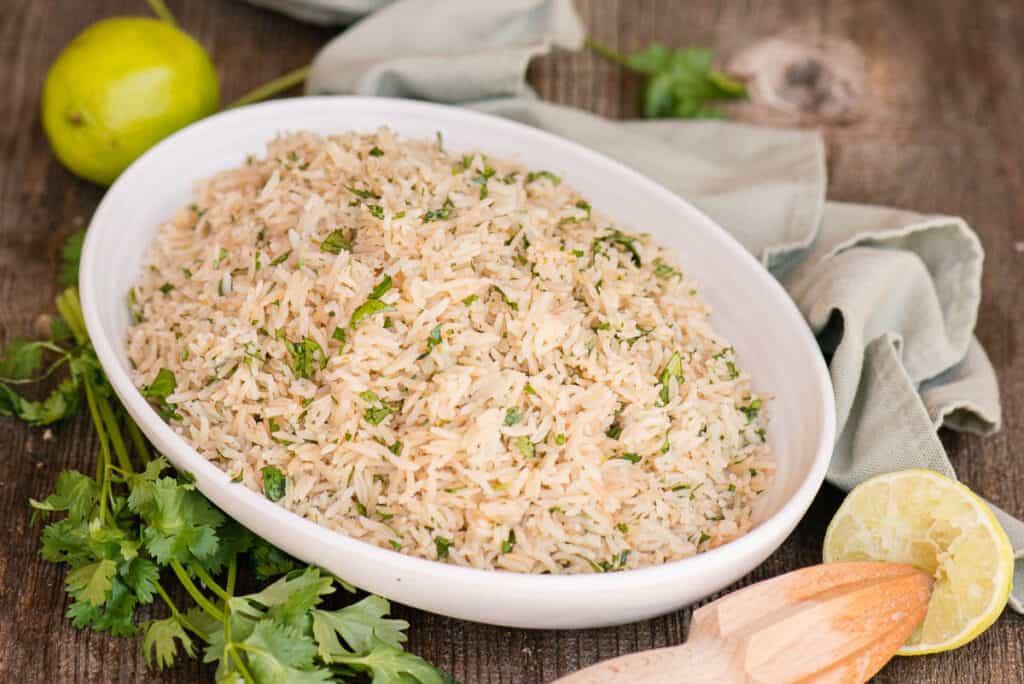 Cilantro Lime Rice in dish