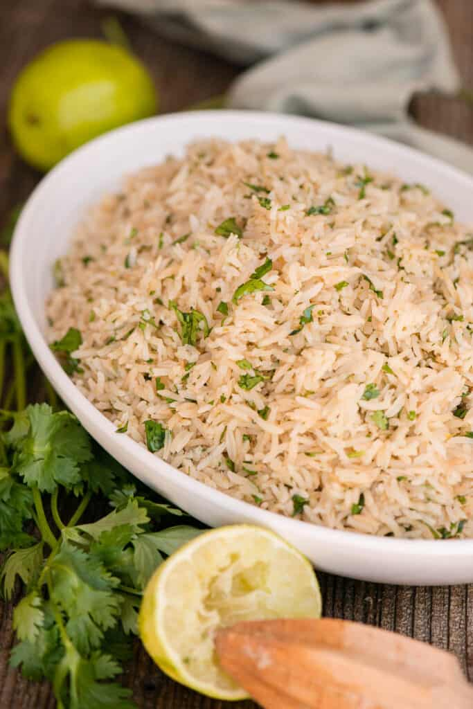 rice with cilantro and lime