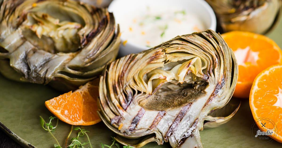 Citrus Brut {Fresh} Artichokes | Self Proclaimed Foodie