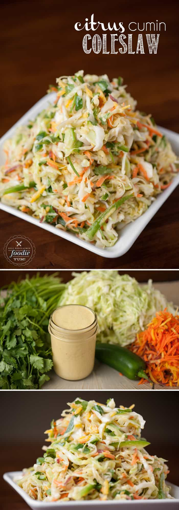 Citrus cumin coleslaw self proclaimed foodie for Sides for fish tacos