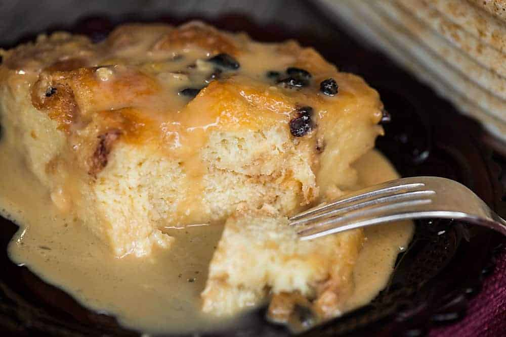 Bread pudding is an easy dessert.