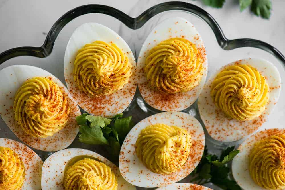 creamy devilled eggs