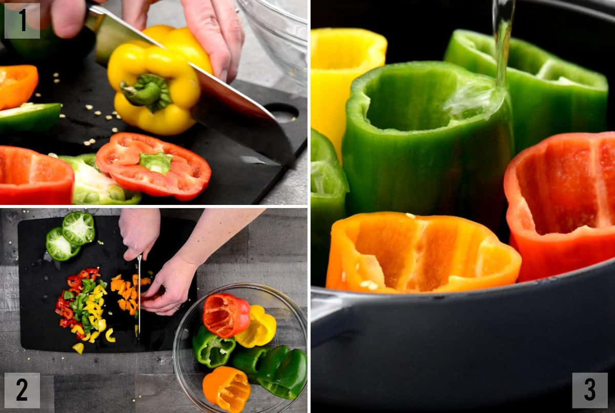 how to par cook bell peppers