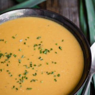 coconut curry leek soup recipe