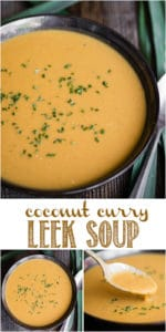 recipe for coconut curry leek soup