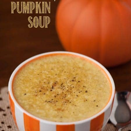 This fall, one of the best bowls of healthy comfort food you can enjoy is this homemade Coconut Curry Pumpkin Soup.