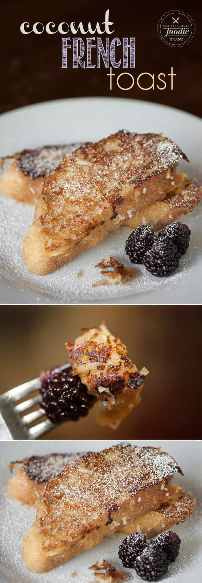Take a step away from your plain standby french toast recipe and make some Coconut French Toast. It's made with coconut milk and sweetened shredded coconut.