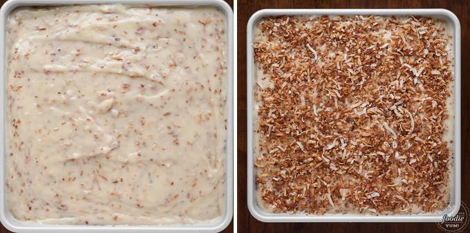 Hole Cake Pudding Coconut Pudding Poke Cake is