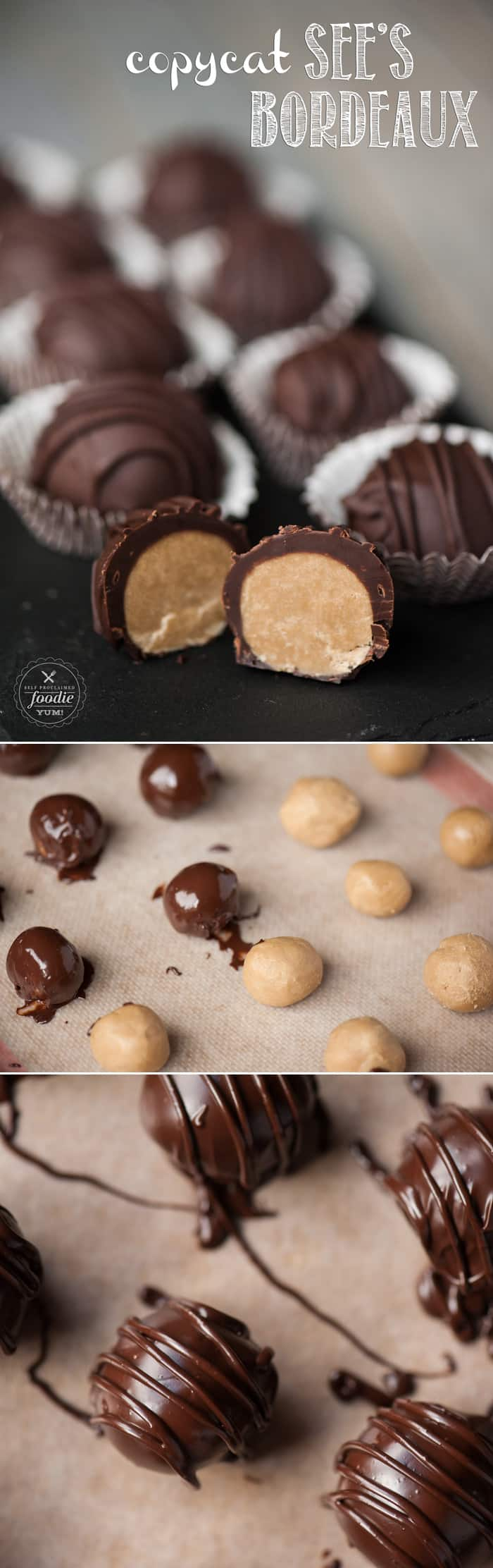 I wanted to see if I could replicate my favorite brown sugar bon bon to share as a holiday treat and the result was a perfect Copycat See's Bordeaux!