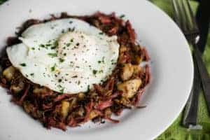 Corned Beef Hash with eggs recipe