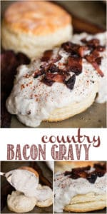 Recipe for Country Bacon Gravy over biscuits