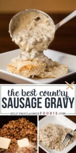 how to make country sausage gravy